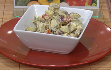 Red Potato Salad with Creamy Pesto Dressing