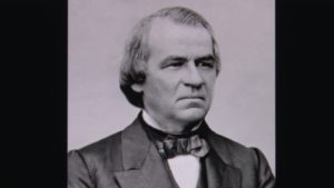 Former US President Andrew Johnson