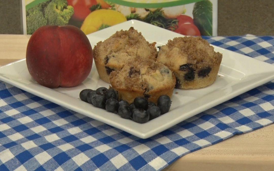 Gluten Free Peach Bluberry Muffins