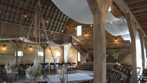 Inside of a restored barn