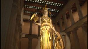 Gold Statue of a goddess