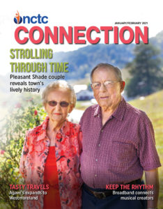 NCTC Connections Magazine Cover with an elderly couple outside. January February 2021 edition