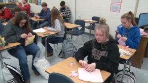 high school seniors at their desks