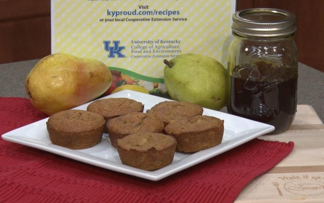 Sorghum Gingerbread Pear Muffins Recipe