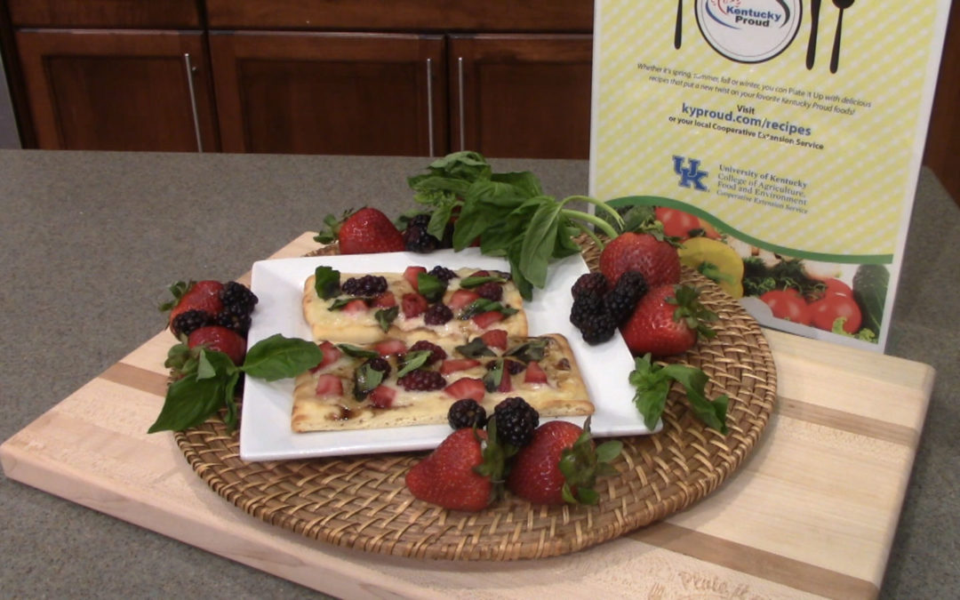 Berry & Basil Pizza Crisp with Honey Balsamic Recipe  Copy