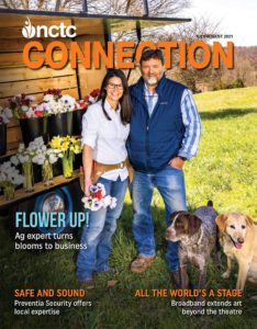 NCTC connection magazine July August 2021 man and woman with dogs and flowers